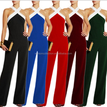 hot sale <strong>designer</strong> one piece party Sexy Womens Jumpsuit Playsuit Wide Leg Pants Trousers Rompers Culottes S-3XL various colors