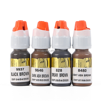 Lushcolor Semi Paste Permanent Makeup Supplies Ink Set , Microblading Tattoo Ink Color Wholesale