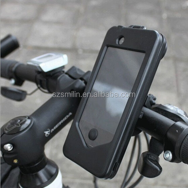 Good quality shockproof&weatherproof Bicycle Phone Case with extra wide lens special for iPhone5/5s,iPhone4/4s,Samsung S3/S4