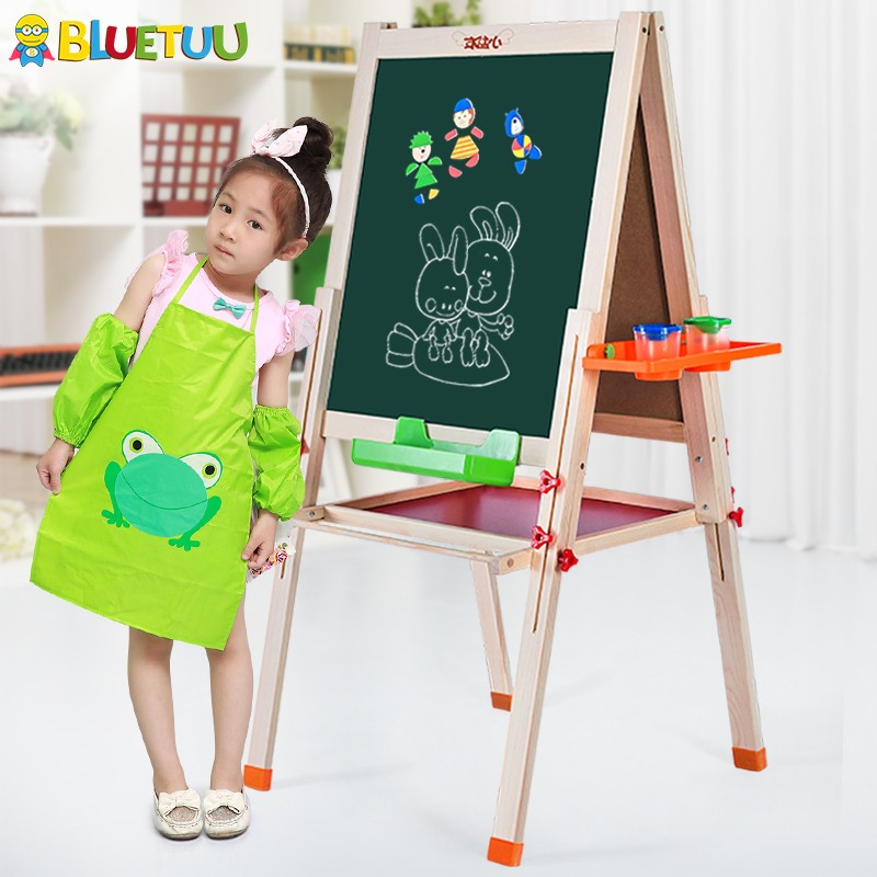 Bluetuu magic easel stand wood easel with drawing parts