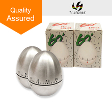 Mechanical Timer Stainless Steel 60-minute Kitchen Egg Cooking Timer