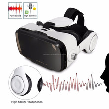 Virtual Reality Headset, 3D VR Glasses for Games & Movies for IOS /Android Phones With Headphone
