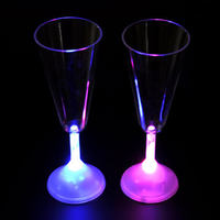 2016 Factory supply liquid champagne active led cup for party supply