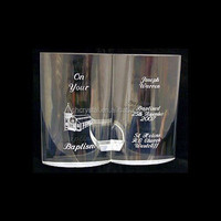Personalised Crystal Baptism Bible Engraved Baptism Gif MH-P067