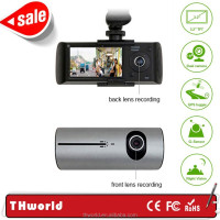 Factory Promotion HD 720P Dual Lens X3000 Dual Camera Mini Car DVR