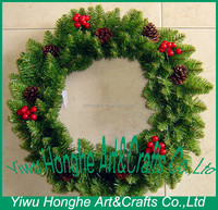 40cm wholesale christmas wreath decorations with fruit