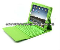 PU Leather Case with Bluetooth Wireless Keyboard for Ipad2/3 (Green)