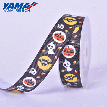 New arrival black 3 inch grosgrain halloween personalized gift ribbon