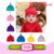 2017 USA apparel headwear Cotton Adjustable Knot Hat Unisex Warm various Beanie Cap bonnet Newborn custom fur pom Hats 0-6 month