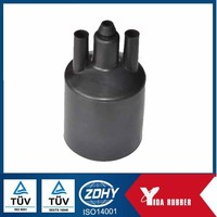 high performance molded rubber caps/pipe fittings connector/connection