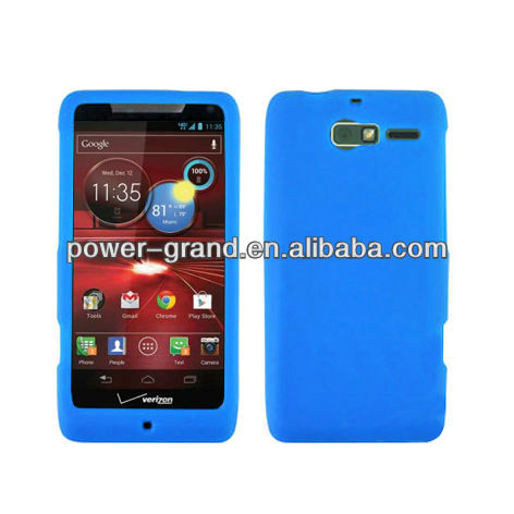 Silicone rubber case cover for Motorola XT907 Droid Razr M, perfect cut, accept PAYPAL