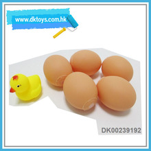 Safe Soft Plastic Toys 5pcs Eggs With a Chicken For Kids With Health Cerificate