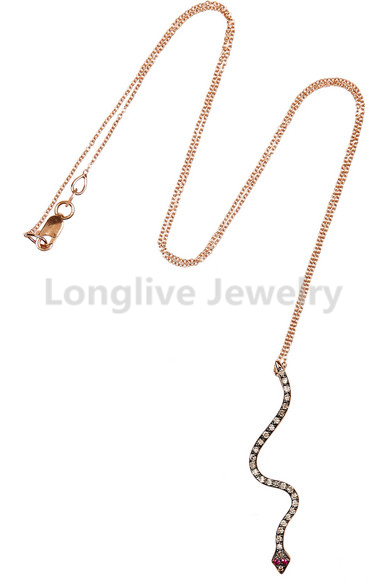 Snake shape necklace,factory direct wholesale jewelry