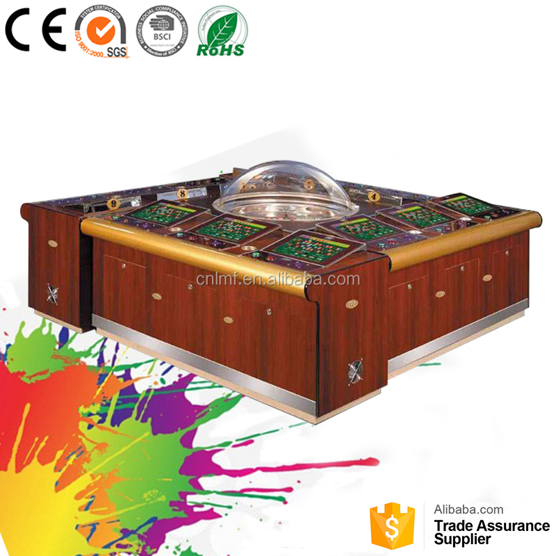 Paradise Island round poker table top 120 Gambling game machine Roulette table factory price for sale