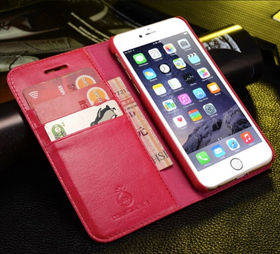 MUSUBO For iPhone 5 PU Case Leather Cell Phone Accessories Flip Cover Case for Mobile Phone