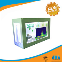 Free shipping transparent LCD screen box player advertising lcd Display