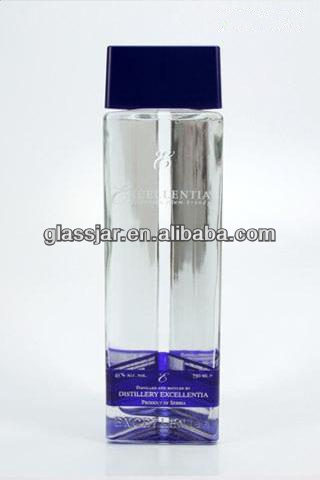 750ml triangle shape vodka glass bottle with printing