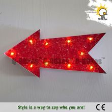 led metal sign metal lights of arrow