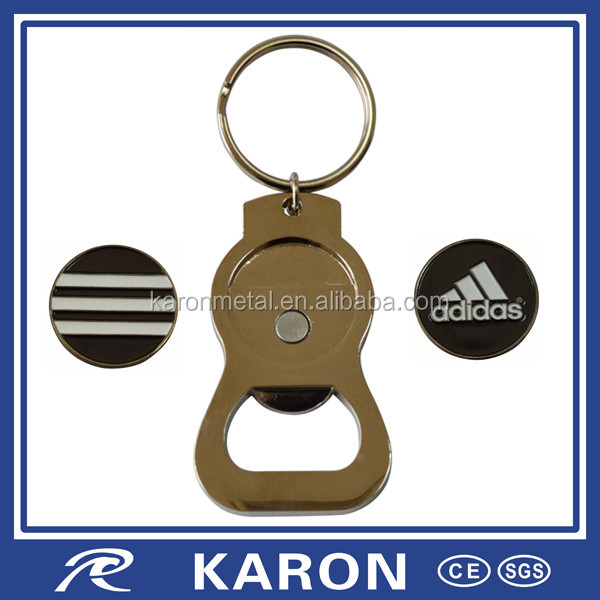 magnetic custom bottle opener key fob in Dongguan