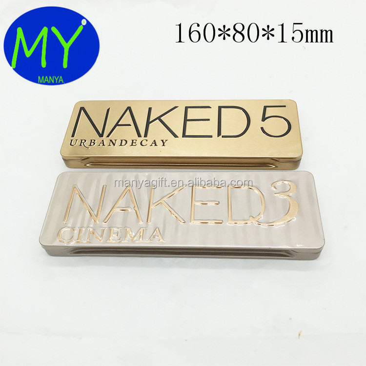 Wholesale Cosmetics Tin Box Naked Eyeshadow Palette Tin