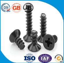 Countersunk head flat tail self-tapping screws (black zinc)