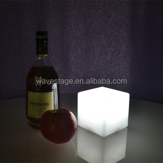 rechargeable battery led cube chair waterproof outdoor led cube light