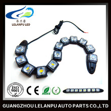 LED waterproof bendable lights 0.5w / led Flexible DRL Daytime Running Light Fog Warning Lamp eagle eyes auto lamps