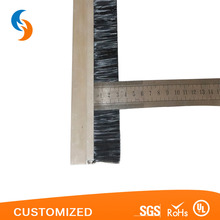 Aluminium alloy backing strip brush for door and windows
