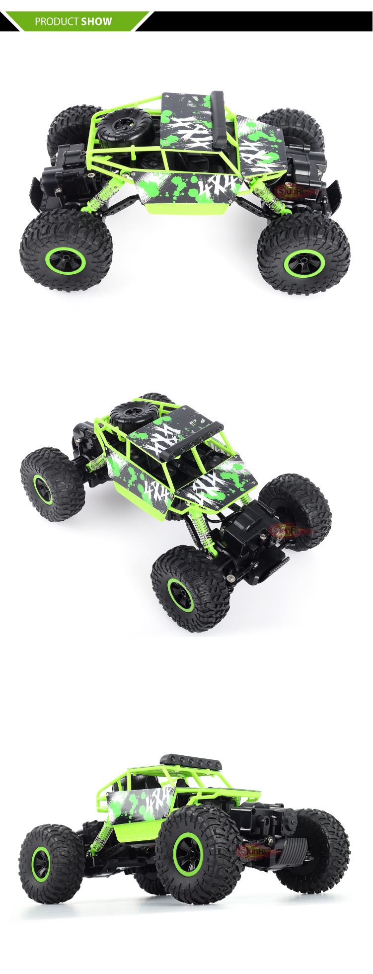 2.4g 4WD rock crawler toy RTR fast rc car with 1:18 scale