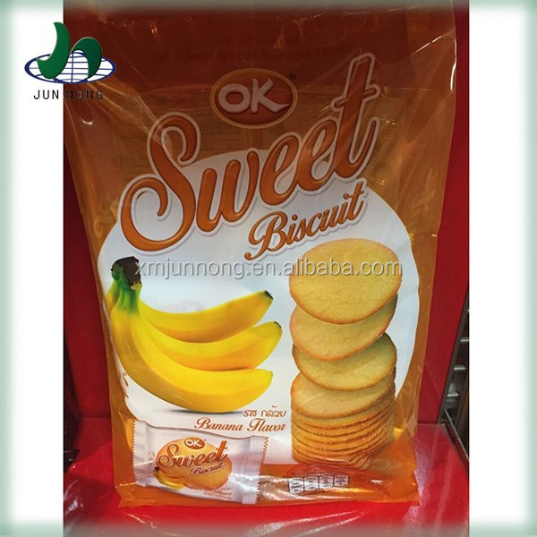 Hot sale new products banana sugar free biscuits