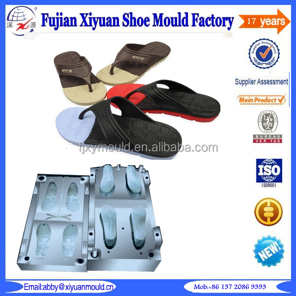 2017 hot selling bi-color EVA dip shoe mould maker, EVA V flip flop mold,<strong>injection</strong> EVA slipper mould
