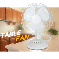 Electric rechargeable desk ventilators for Household with Strong Base 12'' TABLE FAN