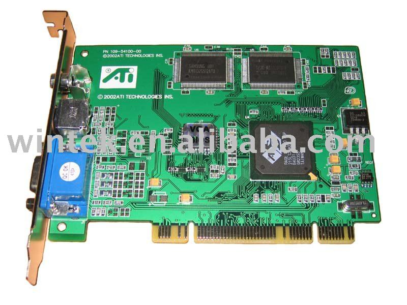 ATI 3D Rage LT PRO VGA card 8M PCI With TV out with high quality
