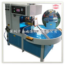 PLC/HMI Automatic rotary turn table four station high frequency synchronization fusion and cut device