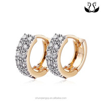 AAA Zircon Earrings Simple Gold Earring Designs For Woman Gold Diamond Earrings