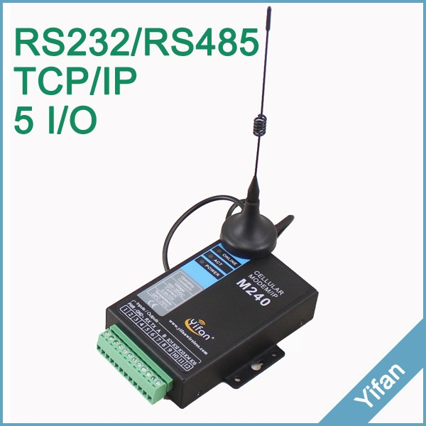 M240 series support TCP/IP transparent data transmission Serial port RS485 RS232 3G modem