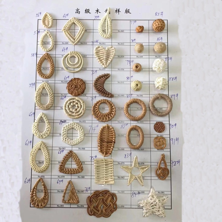 Diy Keychain Jewelry Accessories Finding Rattan Earring Findings Jewelry Making