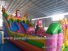 12 by 6 meter Inflatable Fun Fair commercial kids Inflatable amusement city/Large entertainment park HIRE!!!