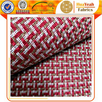100% Polyester red plain chenille fabric for covering sofa cushions