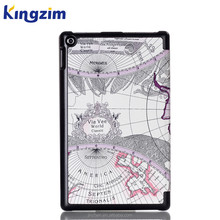 New The Map Tri Fold PU Leather Tablet Case Cover for Amazon Kindle Fire HD10 Inch 2015