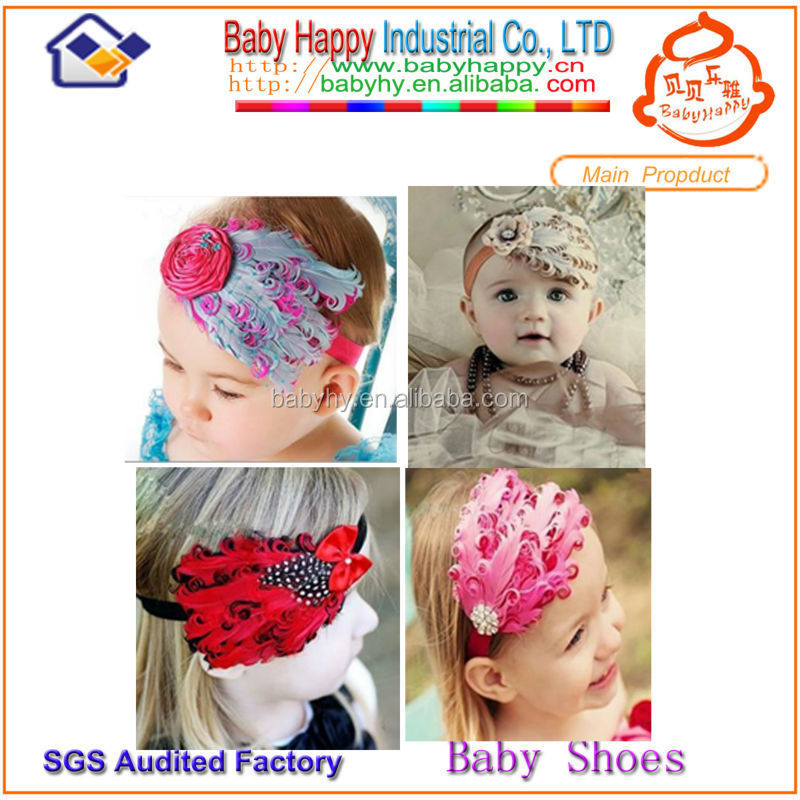 MOQ 100/mix 4 design free shipping stock baby chevron <strong>headband</strong>
