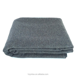 90% Wool Blanket Grey Warm & Heavy Pure Wool Blanket