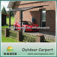 carport with arched roof