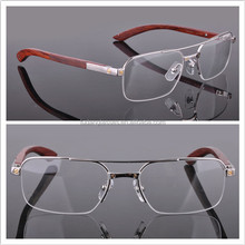 New Style 2014 Spectacle Frames Eyeglasses CT6101002 Full-rim RoseWood Temples