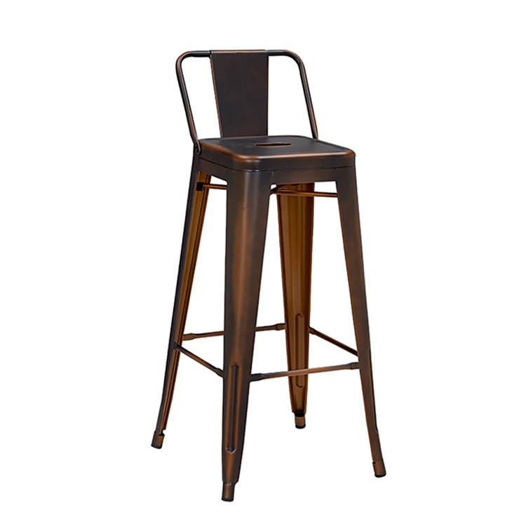 Retro copper vintage industrial style bar stools