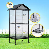 Large size aviaries parrot bird cage with drinker and feeder