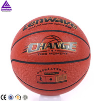 Factory wholesale top quality fashion design PU leather high school students match basketball