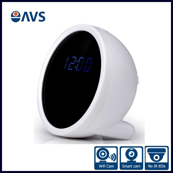 Portable Mini Security P2P Spy Network Desk Alarm Clock Camera with <strong>Wifi</strong> for Family
