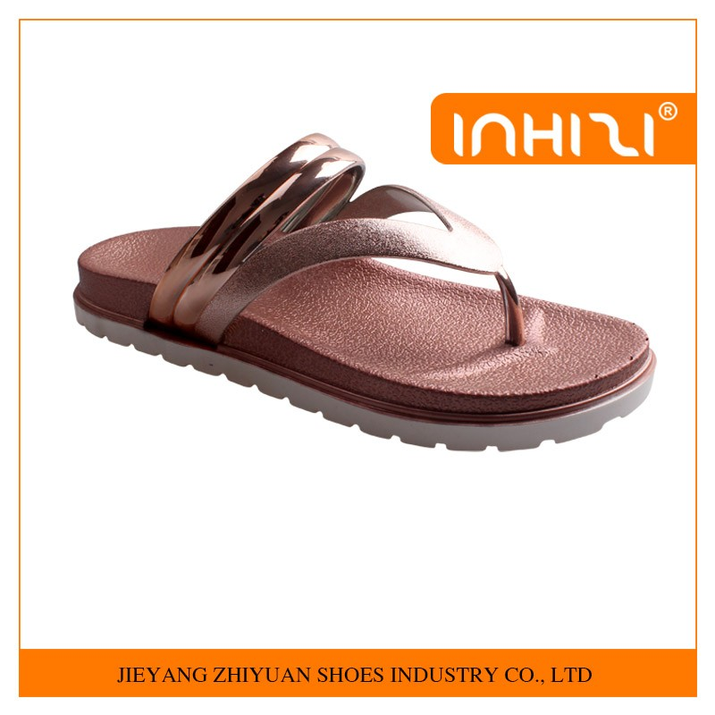 Wholesale Popular new design flat comfortable PVC woman slipper 2016