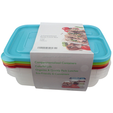 Wholesale 3 compartment reusable cheap plastic food container